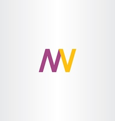 letters n m w v logo icon vector image