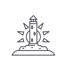 lighthouse line icon concept lighthouse vector image