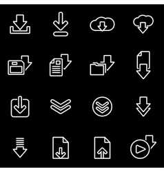 line download icon set vector image