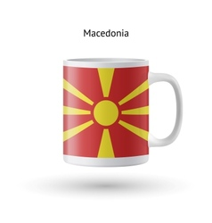 Macedonia flag souvenir mug on white background vector
