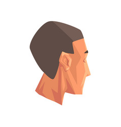 Male head human body part on vector