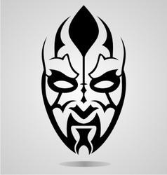 Mask Tattoo Design vector image