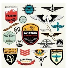 mega set theme aviation vector image