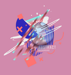modern abstract art geometric background vector image