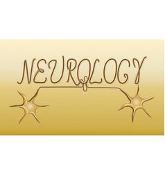 Neurology golden emblem logo vector