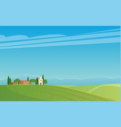 Panorama italian landscape vector