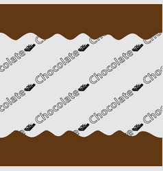 Pattern chocolate background vector