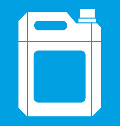 Plastic jerry can icon white vector