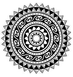 Polynesian geometric mandala pattern hawaii vector