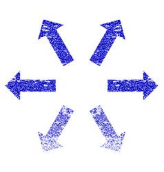 Radial arrows grunge textured icon vector