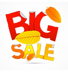 Red and Orange Big Sale Sticker - Label with vector image