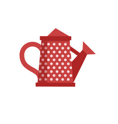 Red watering can icon vector
