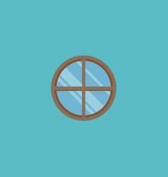 Round window icon flat element vector