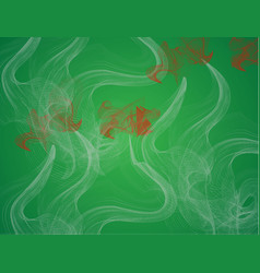set transparent smoke on a plaid background vector image
