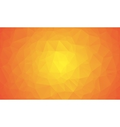 Shades of orange abstract polygonal geometric vector image
