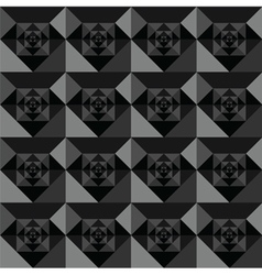 Squares seamless black background design vector