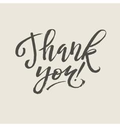 Thank You Card Calligraphy vector