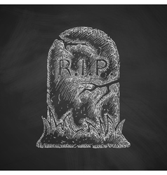 Tombstone icon vector