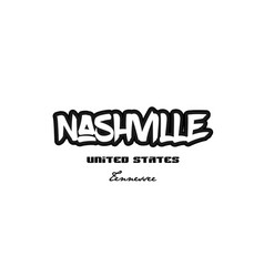United states nashville tennessee city graffitti vector