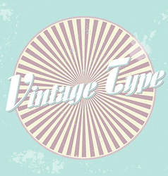 Vintage Lable vector image
