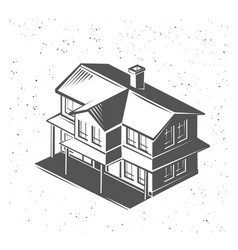 house silhouette black and white vector image vector image