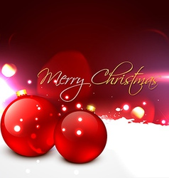 beautiful christmas ball vector image vector image