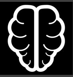 brain the white color icon vector image