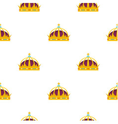 crown pattern flat vector image vector image