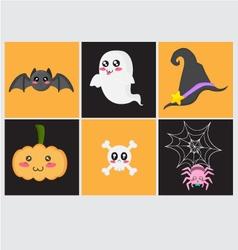 Cute Halloween Set vector image vector image