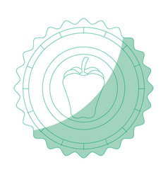 isolated apple round icon vector image vector image
