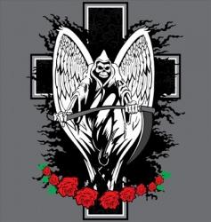 skull cross tattoo vector image vector image