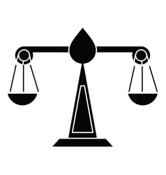 justice scale law symbol pictogram vector image