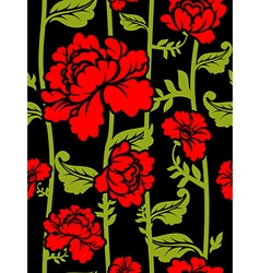 Red Roses on long stems Seamless pattern of vector image vector image
