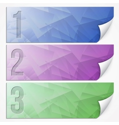 abstract presentation paper banner set vector image
