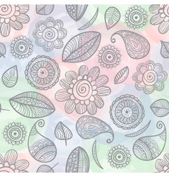 flower seamless watercolor background vector image vector image