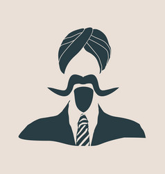indian businessman in a national turban vector image