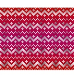 Red knitted ornament seamless pattern vector image