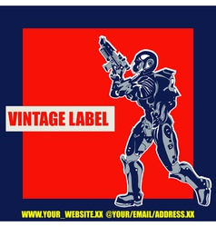 Retro Space Label vector image