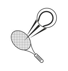 tennis ball racket sport icon thin line vector image