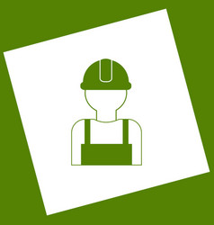 worker sign white icon obtained as a vector image vector image