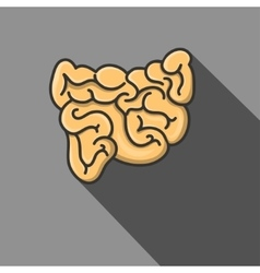a small intestine EPS vector image
