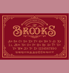 A vintage font in victorian style vector