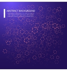 Abstract background with dotted grid and poligonal vector