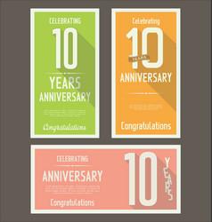 Anniversasry background 10 years vector