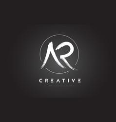 ar brush letter logo design artistic handwritten vector image