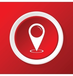Area pointer icon on red vector