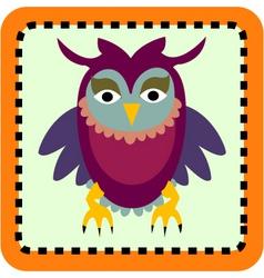 baby owl vector image