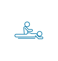 back massage linear icon concept back massage vector image