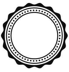 badge seal element contour of circular vector image