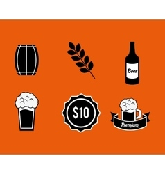beer related icons image vector image